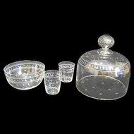 Boston & Sandwich Blown Flint Glass Roman Key & Star Collection