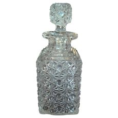 Antique 1883 Elson Glass Daisy & Button Perfume Decanter