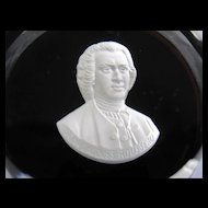 Baccarat Crystal Sulphide Paperweight Jean-Jacques Rousseau