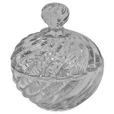 Baccarat Swirl Powder Jar