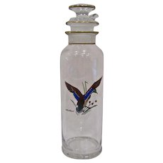 Heisey Cobel Cocktail Shaker Decanter with Mallard Decoration