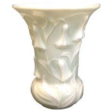 Very Fine Phoenix Glass Blue Bell Vase, Sculptured American Art Glass