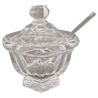 Baccarat Missouri Jam Jar with Lid and Spoon