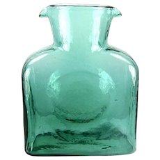 Blenko Glass Water Bottle in Seafoam Green