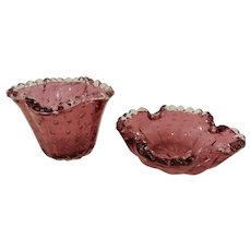 Mid Century Barovier Murano Glass Smoke Set