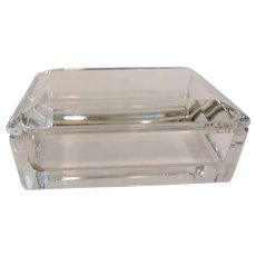 Signed Val St Lambert Crystal Trinket Box
