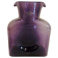 Signed Blenko Amethyst Purple Water Bottle Carafe