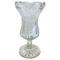 "Antique ca 1840 Flint Glass Vase 10 3/4"""