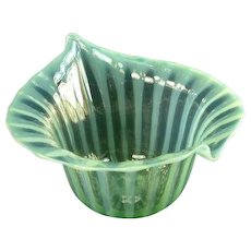 Antique English Victorian Opalescent Sweet Meat Bowl