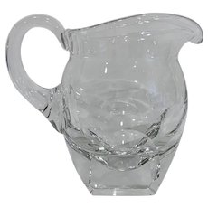 Signed Moser Large Crystal Pitcher