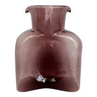 Blenko Double Spout Water Bottle in Orchid