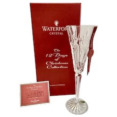 Waterford Crystal 12 Days of Christmas Partridge in a Pear Tree Champagne Flute