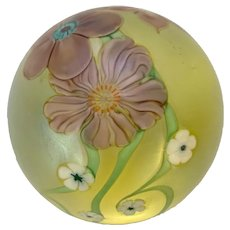 Signed Orient & Flume Paperweight 1986