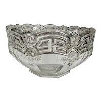 "EAPG Athenia Reverse 44 8"" Bowl Silver Trim"