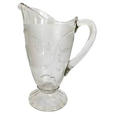 c 1898 Antique Ivy in Snow EAPG Pitcher