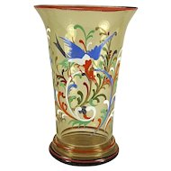 Bohemian Enameled Glass Vase