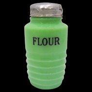 Jeannette Glass Jadite Flour Shaker