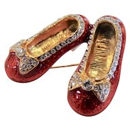 Vintage Ruby Slippers Brooch
