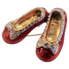Vintage Ruby Slippers Brooch