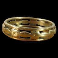 Vintage 1930's Ladies 14K Gold Wedding Band Ring