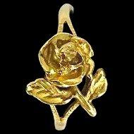Vintage 14K Gold Rose Ring
