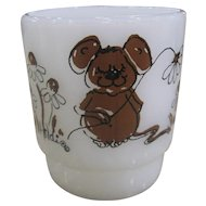 Fire-King Hildi Brown Mouse Mug