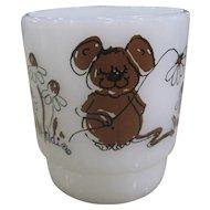 Fire-King Hildi Brown Mouse Mug
