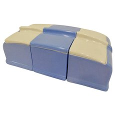 Hall China Coldspot Art Deco Refrigerator Dish Set