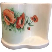 Vintage S Shape Curved Boudoir TV Lamp with Poppies