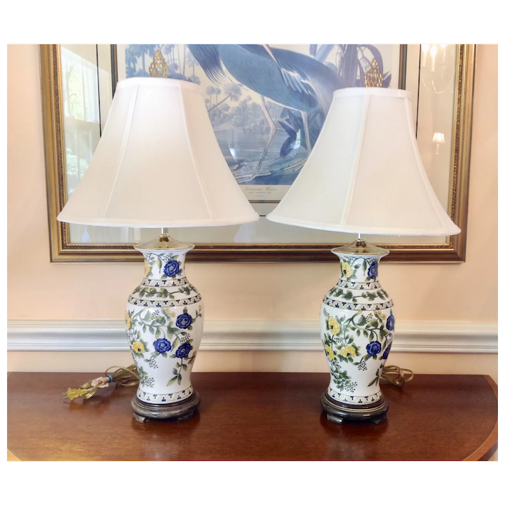 Asian Inspired Table Lamps With Shades