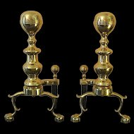 Pair Virginia Metalcrafters Heath Andirons