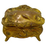 Art Nouveau Gilded Lidded Jewelry Box