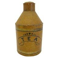 Antique Tole Tea Caddy