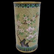 Cloisonne Cylinder Vase