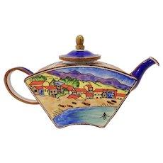Trade for Aid Enamel Metal Miniature Teapot