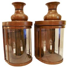 Pair of Virginia Metalcrafters Williamsburg West Carriage Gate Lanterns