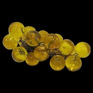 Mid Century Modern Yellow Acrylic Grapes