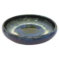 Fulper Pottery Crystalline Glaze Bowl, Chinese Blue and Famille Rose