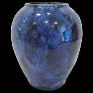 1920's Brush McCoy Blue Onyx Vase