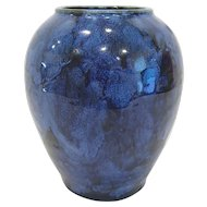 1920's Brush McCoy Blue Onyx Vase