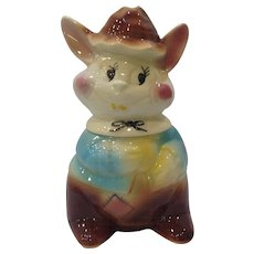 Vintage American Bisque Goofy Rabbit Cookie Jar