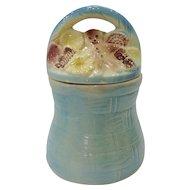 Vintage American Bisque Basket & Gingerbread Man Cookie Jar