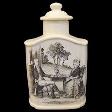 Wedgwood Mt. Vernon George and Martha Washington Tea Caddy