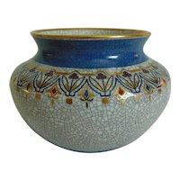 Dahl Jensen Copenhagen Mid Century Crackle Vase