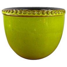 Mid Century Modern German Pottery Jardiniere in Chartreuse