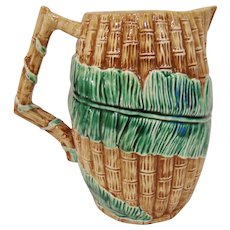 Vintage Fitz & Floyd Bamboo & Palm Large Pitcher