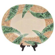 Vintage Fitz & Floyd Bamboo & Palm Large Platter