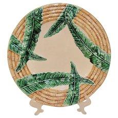 Vintage Fitz & Floyd Bamboo & Palm Large Round Platter