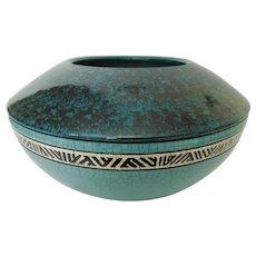 Andy Smith Raku Pottery Large Vessel Pot