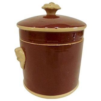 19th C Sarreguemines Foie Gras Pot Terrine Pot de Feu